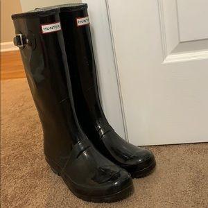 Hunter rain boots! Size 10
